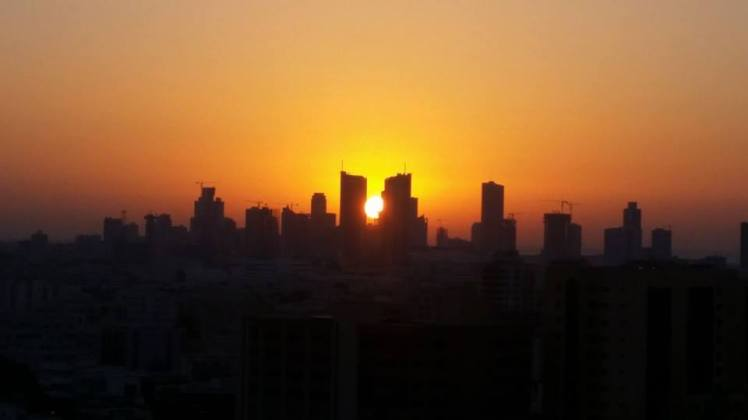 Bahrain Sunset Skyline